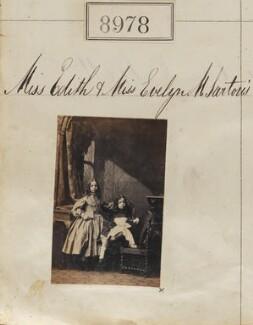 Edith Craven (née Sartoris); Evelyn Mary Sartoris, by Camille Silvy - NPG Ax58801