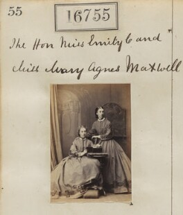Hon. Emily Josephine Constable-Maxwell; Hon. Mary Agnes Constable-Maxwell, by Camille Silvy - NPG Ax64644