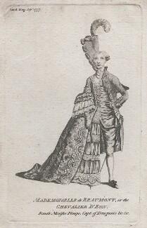 Chevalier d'Eon, after Unknown artist - NPG D43329