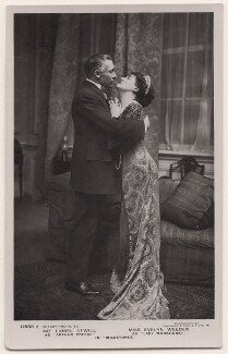 Lionel Atwill as Arthur Preece and Evelyn Weeden as Lady Monkhurst in 'Milestones', by Foulsham & Banfield, published by  Rotary Photographic Co Ltd - NPG x139939