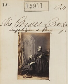 Margaret Helena Marie Curtis (née Candy); Angelique Marianne Henriette Candy, by Camille Silvy - NPG Ax63841