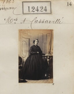 Euterpe Cassavetti, by Camille Silvy - NPG Ax62073