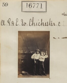 Alan George Chichester; Ernest William Chichester, by Camille Silvy - NPG Ax64658