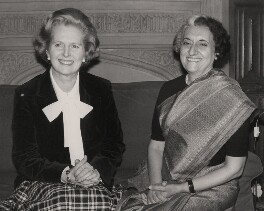 Margaret Thatcher; Indira Gandhi, by Keystone Press Agency Ltd - NPG x139972