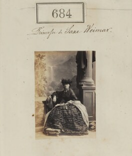 Princess Augusta Katherine Saxe-Weimar, by Camille Silvy - NPG Ax50332