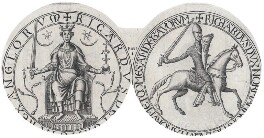 The Great Seal of King Richard I ('the Lionheart'), after Unknown artist - NPG D43332
