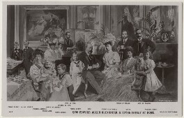 'King Edward, Queen Alexandra & Royal Family at Home', published by J. Beagles & Co - NPG x193015