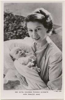 Princess Anne; Queen Elizabeth II, by Cecil Beaton, published by  Raphael Tuck & Sons - NPG x193020