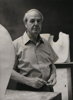 Henry Moore, by Godfrey Argent, for  Camera Press: London: UK - NPG x182390