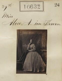 Alice Arbuthnot Simson (née im Thurn), by Camille Silvy - NPG Ax64535