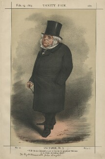 John Bright ('Statesmen No, 3'), by Carlo Pellegrini - NPG D43366