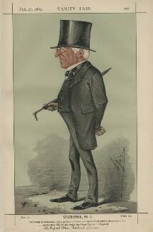 Robert Lowe, 1st Viscount Sherbrooke ('Statesmen, No. 4'), by Carlo Pellegrini - NPG D43368