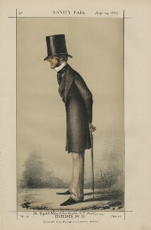 Chichester Samuel Parkinson-Fortescue, Baron Carlingford and 2nd Baron Clermont ('Statesmen, No. 28.'), by Carlo Pellegrini - NPG D43392