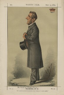 Anthony Ashley-Cooper, 7th Earl of Shaftesbury ('Statesmen, No. 35.'), by Carlo Pellegrini, published in Vanity Fair 13 November 1869 - NPG D43405 - © National Portrait Gallery, London