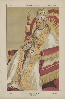 Pope Pius IX (Giovanni Maria Mastai-Ferretti) ('Sovereigns No. 6.'), by James Jacques Tissot - NPG D43412