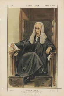 (John) Evelyn Denison, 1st Viscount Ossington ('Statesmen No. 43.'), by Alfred Thompson (Atn) - NPG D43422