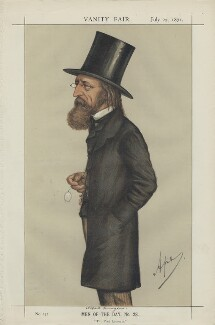 Alfred, Lord Tennyson ('Men of the Day, No. 28.'), by Carlo Pellegrini - NPG D43493