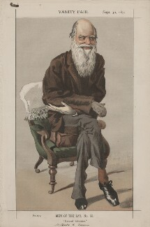 Charles Darwin ('Men of the Day, No. 33.'), by James Jacques Tissot - NPG D43503