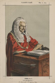 Sir Fitzroy Edward Kelly ('Judges, No. 5.'), by James Jacques Tissot - NPG D43508