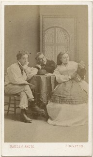 James Davie Stoyle as Dick Dugs, Henry Thornton Craven (né Henry Thornton) as Daniel White, and Ada Swanborough as Annie White in 'Milky White', by Adolphe Naudin - NPG x139997