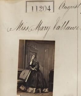 Mary Vallance, by Camille Silvy - NPG Ax60903