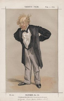 Charles Pelham Villiers ('Statesmen, No. 123.'), by James Jacques Tissot - NPG D43551
