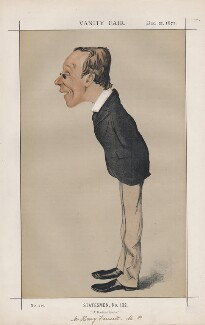 Henry Fawcett ('Statesmen, No. 132.'), by Melchiorre Delfico - NPG D43567