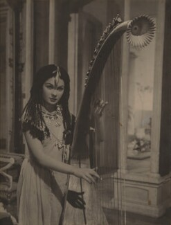 Jean Simmons as the harpist in 'Caesar and Cleopatra', possibly by Wilfrid Newton - NPG x199013