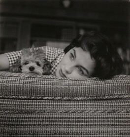 Jean Simmons with her dog Bessy, by Peter Basch - NPG x199016