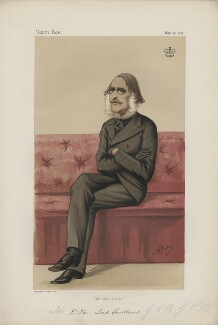William Rose Mansfield, 1st Baron Sandhurst ('Statesmen. No. 173.'), by Carlo Pellegrini - NPG D43642