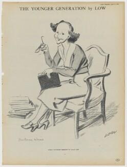 Barbara Jackson (née Ward), Baroness Jackson, after Sir David Low - NPG D43348