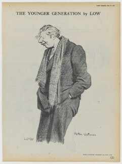 Peter Ustinov, after Sir David Low - NPG D43349