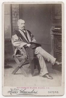 Sir Charles William Wilson, by Hills & Saunders - NPG x197968