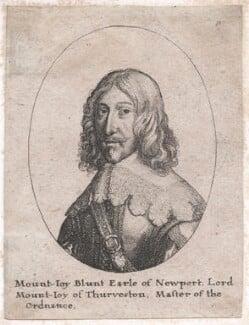 Mountjoy Blount, 1st Earl of Newport, by Wenceslaus Hollar - NPG D43269