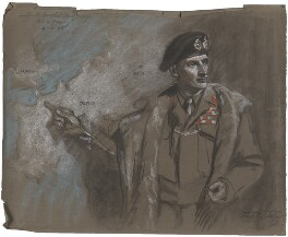 Bernard Law Montgomery, 1st Viscount Montgomery of Alamein, by Frank Salisbury - NPG 7008(1)