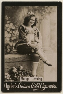 Madge Lessing, by Benjamin Joseph Falk, published by  Ogden's - NPG x193161