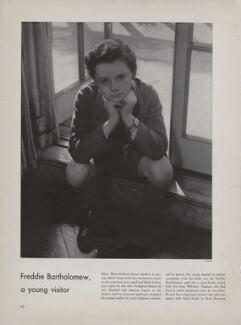 Freddie Bartholomew, by Lusha Nelson - NPG x193430