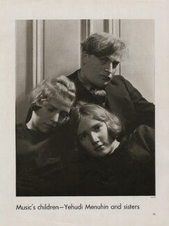 Yaltah Menuhin; Hephzibah Menuhin; Yehudi Menuhin, by Lusha Nelson - NPG x193432
