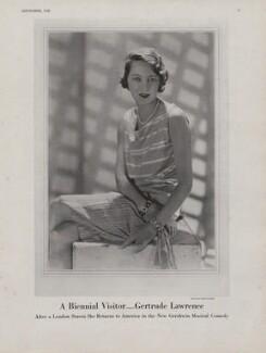 Gertrude Lawrence, by Baron George Hoyningen-Huene - NPG x193433