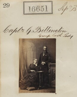 George Moyle Billington with an unknown woman, by Camille Silvy - NPG Ax64552