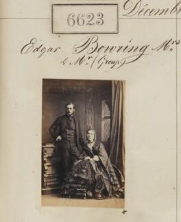 Edgar Alfred Bowring; Ellen Bowring (née Cubitt), by Camille Silvy - NPG Ax56556