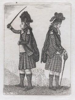 James Graham, 3rd Duke of Montrose; David Steuart Erskine, 11th Earl of Buchan, by John Kay - NPG D43277
