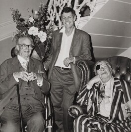 John Mortimer; Matthew Francis Parris; George Melly, by Michael Woods - NPG x199054