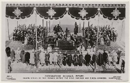 'Coronation Durbar, Delhi. Ruling Chiefs of the Punjab Before the King Emperor and Queen Empress', by Illustrations Bureau, published by  J. Beagles & Co - NPG x193184