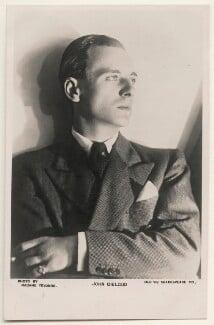 John Gielgud, by Madame Yevonde - NPG x198112