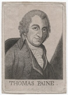 Thomas Paine, by John Kay, after  George Romney - NPG D45866