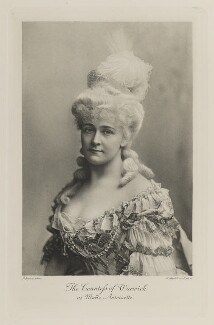 Frances Evelyn ('Daisy') Greville (née Maynard), Countess of Warwick as Marie Antoinette, by Lafayette, photogravure by  Walker & Boutall - NPG Ax41184