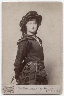 Mary Anderson (Mrs de Navarro) as Rosalind in 'As You Like It', by Henry Van der Weyde, 1885 - NPG  - © National Portrait Gallery, London