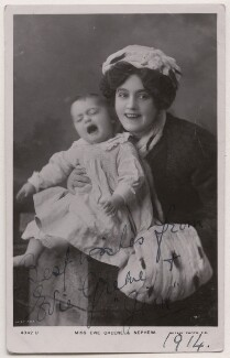 Evie Greene with her nephew, by Lilian Beel, published by  Rotary Photographic Co Ltd - NPG x198114