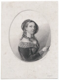 (Elizabeth) Emma Soyer (née Jones), by Henry Bryan Hall, after  (Elizabeth) Emma Soyer (née Jones) - NPG D45870